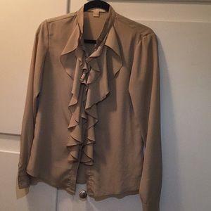 Michael Kors tan blouse